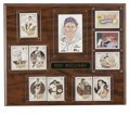 Autographs:Index Cards, Ted Williams Signed Display. Wonderful display paying homage to theRed Sox HOFer Ted Williams. Located centrally on the 1...