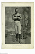 Boxing Collectibles:Memorabilia, Peter Jackson Supplement To Police Gazette Photo. Classic photo from the Police Gazette of legendary heavyweight Peter Jacks...