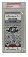 Baseball Collectibles:Others, 2001 All-Star Game Ticket PSA EX-MT 6. The 2001 MLB All-Star Gametook place in Seattle at Safeco Field, and Cal Ripken, J...