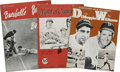 Baseball Collectibles:Publications, Assorted Vintage Baseball publications Lot of 6. Here we offer aglimpse into the past of American baseball as we offer a h...(Total: 6 Items)