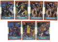 Basketball Cards:Lots, 1986-87 Fleer Basketball Group Lot of 7. Seven high-quality starcards from the important 1986-87 Fleer issue. Cards inclu...