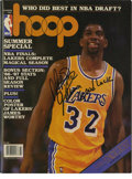 Basketball Collectibles:Others, Magic Johnson Signed Magazine. Here we offer a 1987 Hoopmagazine featuring the amazing Magic Johnson on the cover. Th...(Total: 4 Items)