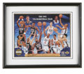 Basketball Collectibles:Others, Larry Bird and Magic Johnson Signed Dream Team Sheet. In 1992 UpperDeck produced a limited run of 80,000 commemorative she...