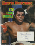 """Boxing Collectibles:Autographs, Muhammad Ali Cut Signature w/1980 """"Sports Illustrated"""" Edition. Here we offer a pristine cut signature of the Greatest, Muh..."""