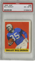 Football Cards:Singles (Pre-1950), 1948 Leaf Bill Dudley #36 PSA EX-MT 6. From their entry into therealm of football cards, Leaf offers this fantastic #36 ca...