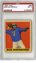 Football Cards:Singles (Pre-1950), 1949 Leaf Bob Waterfield #89 PSA NM 7. HOF card from the 1949 Leaffootball issue features the great quarterback Bob Waterf...
