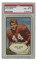 Football Cards:Singles (1950-1959), 1953 Bowman Kyle Rote #25 PSA NM-MT 8. Beautiful high-grade early football card from Bowman's 1953 issue. The great halfba...
