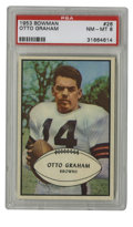 Football Cards:Singles (1950-1959), 1953 Bowman Otto Graham #26 PSA NM-MT 8. Of the 91 1953 Bowman #26 cards that have been graded by the experts at PSA/DNA, n...