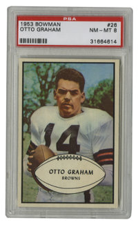 1953 Bowman Otto Graham #26 PSA NM-MT 8. Of the 91 1953 Bowman #26 cards that have been graded by the experts at PSA/DNA...