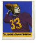 Football Cards:Singles (Pre-1950), 1948 Leaf Sammy Baugh #34. Fine example of the HOF quarterbackSammy Baugh's entry in the 1948 Bowman issue. Borders remai...