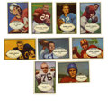 Football Cards:Lots, 1953 Bowman Football Group Lot of 85. Eighty-five unique cards from Bowman's 1953 96-card football issue are presented here...