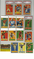 Football Cards:Sets, 1956 Topps Football Complete Set (120), PSA-Graded Lot of 4. All 120 of the numbered cards from Topps' 1956 football issue ...