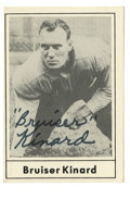 Football Collectibles:Others, 1977 Touchdown Club Signed Bruiser Kinard #38. Although he weighed a mere 195 pounds when he went pro in 1938, the great Fr...