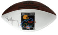 Football Collectibles:Balls, Steve Young Single Signed Football. After being traded away by the Buccaneers after they drafted Vinny Testaverde in 1987, ...