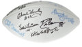 Football Collectibles:Balls, Vintage Dallas Cowboys Stars Multi-Signed Football. This Wilson football contains signatures from eleven fan favorites from...