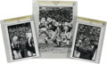 Football Collectibles:Photos, Circa 1960s New York Jets Vintage Photographs Lot of 6. Half adozen beautiful vintage shots each focus on the New York Jet...