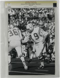 Football Collectibles:Photos, 1971 Johnny Unitas Super Bowl V Vintage Photograph. The amazing Johnny Unitas led his Baltimore Colts to victory in Super B...