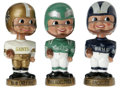 Football Collectibles:Others, 1968-70 NFL/AFL Merger Series Bobbing Head Dolls Lot of 3. The highly collectible bobbing head dolls from the 1968-70 NFL/A... (Total: 3 Items)