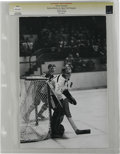 Hockey Collectibles:Photos, Circa 1970s Gerry Cheevers Vintage Photograph. Boston Bruins HOFgoalie Gerry Cheevers dazzled fans of the New England hock...