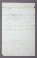 "Autographs:Military Figures, GEORGE ARMSTRONG CUSTER HISTORIC AUTOGRAPH MANUSCRIPT - In pencil, unsigned, one page, 8"" x 12.5"". [Kansas, April 15-25, 186... (Total: 1 Item)"