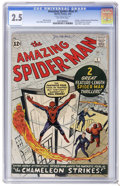Silver Age (1956-1969):Superhero, The Amazing Spider-Man #1 (Marvel, 1963) CGC GD+ 2.5 Off-white pages. In this first issue, Spider-Man's origin is retold. It...