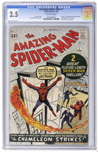 The Amazing Spider-Man #1 (Marvel, 1963) CGC GD+ 2.5 Off-white pages. In this first issue, Spider-Man's origin is retold...