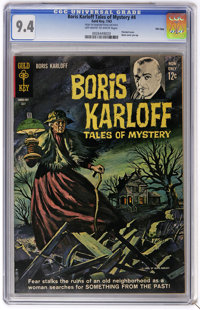 Boris Karloff Tales of Mystery #4 File Copy (Gold Key, 1963) CGC NM 9.4 Off-white to white pages. Painted cover. Back co...