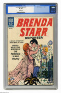 Silver Age (1956-1969):Romance, Brenda Starr Reporter #1 (Dell, 1963) CGC VF 8.0 Off-white pages.Only issue in series. Overstreet 2006 VF 8.0 value = $112....