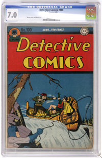 Detective Comics #100 (DC, 1945) CGC FN/VF 7.0 Off-white pages. Dick Sprang cover. Jack Burnley art. Overstreet 2006 FN...