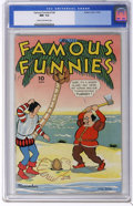 Golden Age (1938-1955):Miscellaneous, Famous Funnies #124 (Eastern Color, 1944) CGC NM- 9.2 Cream to off-white pages. Tied with one other copy for highest-graded ...