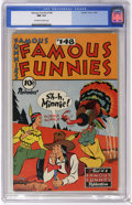 Golden Age (1938-1955):Miscellaneous, Famous Funnies #148 (Eastern Color, 1946) CGC NM 9.4 Off-white to white pages. Only one other copy of issue #148 has receive...