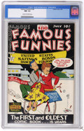 Golden Age (1938-1955):Miscellaneous, Famous Funnies #180 (Eastern Color, 1949) CGC NM- 9.2 Cream tooff-white pages. Just one other copy of issue #180 has receiv...