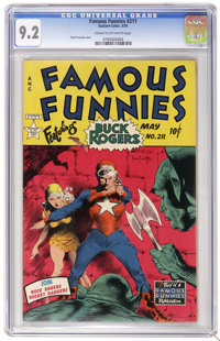 Famous Funnies #211 (Eastern Color, 1954) CGC NM- 9.2 Cream to off-white pages. Buck Rogers never looked better than whe...