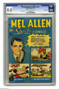 Golden Age (1938-1955):Non-Fiction, Mel Allen Sports Comics #5 (#1) Crowley Copy (Standard, 1949) CGC VF 8.0 Cream to off-white pages. George Tuska art. Overstr...