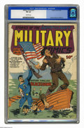 Golden Age (1938-1955):War, Military Comics #11 (Quality, 1942) CGC FN 6.0 Off-white pages.Will Eisner flag cover. Chuck Cuidera, Bob Powell, Dave Berg...