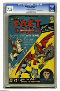 Real Fact Comics #13 (DC, 1948) CGC VF- 7.5 Cream to off-white pages. Dale Evans and Tommy Tomorrow cover and stories. T...