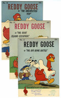 Silver Age (1956-1969):Humor, Reddy Goose #12, 13, and 16 File Copy Group (Western, 1961-62)Condition: Average VF-. File copies from the Western Printing...(Total: 3 Comic Books)