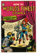 Golden Age (1938-1955):Superhero, World's Finest Comics #73 (DC, 1954) Condition: VG/FN. Overstreet calls this 10¢ issue scarce. Curt Swan cover. Swan, Nick C...