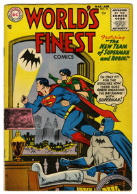 World's Finest Comics #75 (DC, 1955) Condition: VG/FN. First code approved issue. Curt Swan cover. Swan and George Papp...