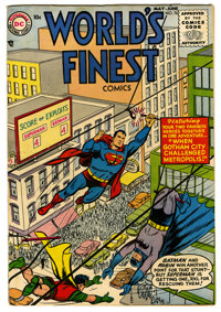 World's Finest Comics #76 (DC, 1955) Condition: VG+. Win Mortimer, Curt Swan, and George Papp art. Overstreet 2006 VG 4...