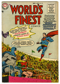 World's Finest Comics #78 (DC, 1955) Condition: FN+. Win Mortimer, Dick Sprang, George Papp, and Fred Ray art. Overstree...