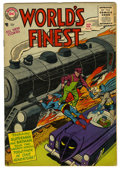 Silver Age (1956-1969):Superhero, World's Finest Comics #80 (DC, 1956) Condition: FN-. Win Mortimer cover. Dick Sprang and Fred Ray art. Overstreet 2006 FN 6....