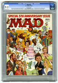 Magazines:Mad, Mad #35 (EC, 1957) CGC NM- 9.2 Off-white pages. Fifth anniversaryissue. Cindarella parody. Wraparound cover by Norman Mingo...