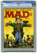 "Magazines:Mad, Mad #43 (EC, 1958) CGC NM- 9.2 Off-white pages. ""The End of Comics""parody with Little Orphan Annie, Dick Tracy, Pogo, L'il ..."