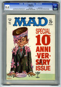 Magazines:Mad, Mad #72 Gaines File pedigree (EC, 1962) CGC NM 9.4 White pages.10th anniversary issue. Kelly Freas cover. Comic strip parod...