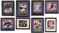 Football Collectibles:Photos, New York Giants Signed Photographs Lot of 8....