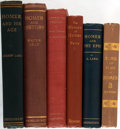Books:Literature Pre-1900, Group of Six Books Related to Homer. Various publishers, latenineteenth and early twentieth centuries. Various editions. Oc...(Total: 6 Items)