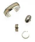 Estate Jewelry:Suites, Gold, Sterling Silver Jewelry Suite, Leonard Schmallie. ... (Total:3 Items)
