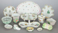 Ceramics & Porcelain, Continental:Contemporary   (1950 to present)  , AN ASSEMBLED GROUP OF FORTY-THREE HEREND PORCELAIN TABLE ARTICLESIN VARIOUS PATTERNS. 20th century. Marks to all: HEREND,...(Total: 51 Items)
