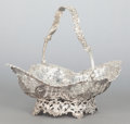 Silver Holloware, British, A JAMES DIXON & SONS EDWARDIAN RETICULATED SILVER BASKET. JamesDixon & Sons, Sheffield, England, circa 1904-1905. Marks: (l...